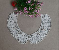 2 pieces a pair Detachable collar  off white lace by LaceMode, $3.99