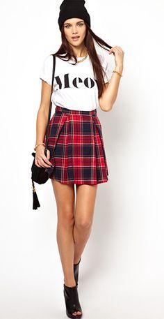 ASOS Tartan skirt | Timodelle Magazine