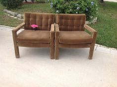 Pair of MILO Baughman Style Club Chairs by RetroDaisyGirl on Etsy, $575.00