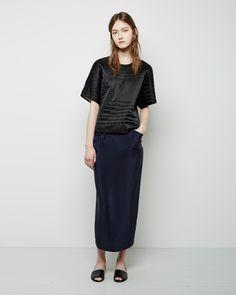 Isabel Marant Etoile  Landers Quilted Silk Top | La Garconne
