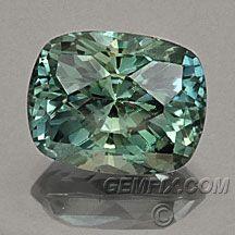 cushion green blue unheated montana sapphire