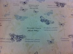 """FRYETT`S Cotton""""Papillon Chambray"""" Butterfly Fabric for Curtain,Upholstry,Crafts 9.95/meter"""