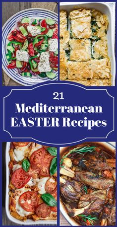 Healthy Recipes : All-Star Mediterranean Easter Recipes! From leg of lamb, Greek potatoes, spanako. Lamb Dinner, Dinner Menu, Easter Dinner Recipes, Healthy Dinner Recipes, Easter Recipes Healthy, Easter Salads Ideas, Delicious Recipes, Healthy Foods, Mediterranean Diet Recipes