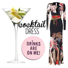"""""""cheers!!!!!!!!!!!!!!!!!!"""" by chiqiyoly ❤ liked on Polyvore featuring MSGM, Roberto Cavalli, LSA International, Yves Saint Laurent, Chanel, cocktaildress, evening and polyvorecontest"""