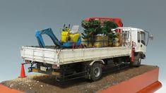 現場到着 アオシマ1/32  いすゞ フォワード Model Truck Kits, Model Car, Big Rig Trucks, Rc Trucks, Plastic Model Kits, Plastic Models, Bmx Ramps, Truck Scales, Diecast Models