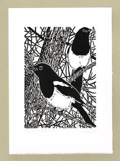 Hey, I found this really awesome Etsy listing at https://www.etsy.com/uk/listing/209411260/magpies-magpies-print-magpies-linocut