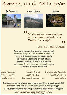 Una proposta di itinerario nella spiritualità di Arezzo da parte degli hotel del gruppo incomingarezzo