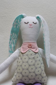 STITCHED by Crystal: Tutorial: Bunny Rag Doll with Free Pattern