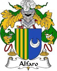 Alfaro Spanish Coat of Arms Print Alfaro Spanish Family Crest Print