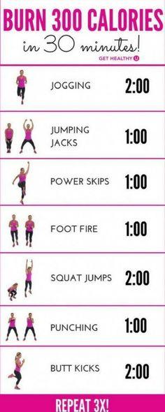 The average person burns about 100 calories per mile. To burn 300 calories in 30...  #about #average #burn #burns #calories #mile #person #fastmetabolism Calisthenics Workout Routine, Hiit Workout Videos, 300 Workout, Pilates Workout, Power Yoga Workout, Cardio Yoga, Band Workout, Cardio Workout At Home, Cardio Training