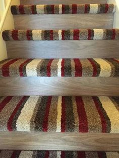 Love this half carpet half stairs idea. Laminate Stairs, Flooring For Stairs, Carpet Flooring, Basement Stairs, Flooring Ideas, Basement Ideas, Wood Staircase, Wooden Stairs, Staircase Design