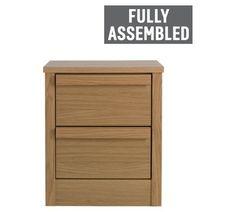 Buy Hygena Beijing 2 Drawer Bedside Cabinet - Oak at Argos.co.uk - Your Online Shop for Bedside cabinets, Bedroom furniture, Home and garden.