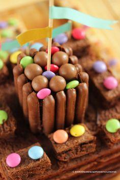Les kids de Sophie en cuisine: {Gâteau d'anniversaire} Le brownie château-fort à réaliser en 20 minutes