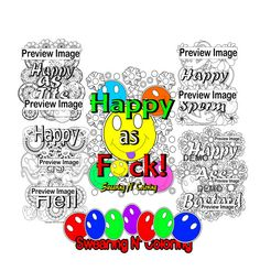 5 Swear Word Coloring Pages Happy As Fck Page