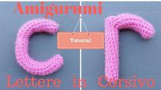 Amigurumi Alfabeto: Lettere c r in stampatello minuscolo! Tutorial!!