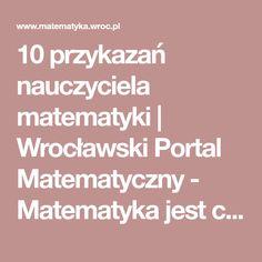 10 przykazań nauczyciela matematyki   Wrocławski Portal Matematyczny - Matematyka jest ciekawa Portal