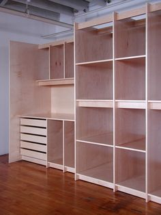Custom Art Storage System for Art Gallery for storing paintings.