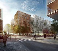 """""""ELEMENTS"""" Bureaux et commerces, Paris (75013) - Vinci Immobilier - Antonini Darmon_ARTEFACTORY LAB"""