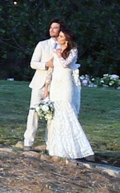 Actress Nikki Reed married Ian Sumerhadler last weekend wearing a custom Claire Pettibone wedding dress