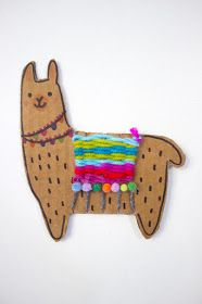 ideas for kids summer diy projects Adorable Woven Cardboard Llamas Kids Crafts, Crafts For Kids To Make, Arts And Crafts, Kids Craft Projects, Cardboard Crafts Kids, Cardboard Animals, Easy Art For Kids, Easy Art Projects, Art Crafts