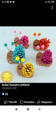 Pinecone Crafts Kids, Pine Cone Crafts, Crafts For Kids, Doterra, Pine Cones, Hobbit, Animales, Winter, Preschool Crafts