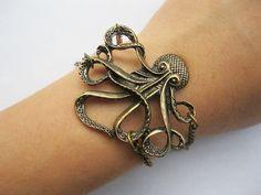 braceletantique bronze octopusalloy bracelet by laceinspring, $3.99