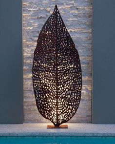 musminimalis Autumn Leaf - Metal Sculptures - Outdoor Screens & Wall Features - Watergarden Warehouse: