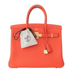 Hermes Birkin 30 Orange Poppy gold hardware