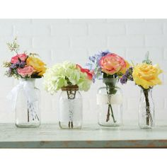 Garden Party: Floral and Glass Containers