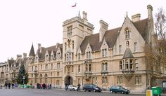 Front to Broad Street Balliol College Oxford, by Alfred Waterhouse Oxford England, Places Around The World, Around The Worlds, Balliol College, Oxford United Kingdom, Oxford City, Dream City, British Isles, Great Britain