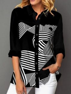 ninacloak.com Cute Blouses, Shirt Blouses, Blouses For Women, Womens Trendy Tops, Culottes, Blouse Online, Shirts Online, Fashion Line, Moda Online