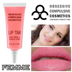 OCC Lip Tar - Femme Original Formula!! Never used, swatched or opened!! No brush. Have 4 available in this color. Combine with other OCC lip tars for a discount. New & 100% Authentic. No Trades, No PP. OCC Makeup Lip Balm & Gloss