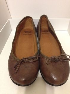 5fadc7ac8b3 Calzoleria Toscana Brown Leather Flats Size 38. Made In italy!!  fashion