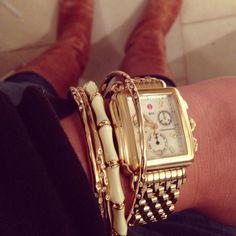 A little bit of Stella & Dot with my Michele watch.
