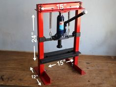 A hydraulic press is a machine using a hydraulic cylinder to generate a compressive force. It uses the hydraulic equivalent of a mechanical lever. A hydraulic p Metal Bending Tools, Metal Working Tools, Metal Tools, Metal Projects, Welding Projects, Cool Tools, Diy Tools, Hydraulic Press Machine, Importance Of Light