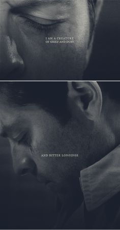 Castiel: - there is an empty place within me where my heart was once #spn