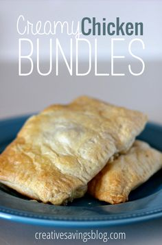 Creamy Chicken Bundles - you can make them regular-sized, or cut them in half for mini appetizers or little hands