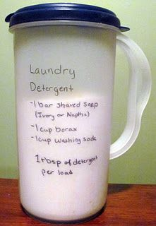 Powdered Laundry Detergent Recipe for High Efficiency Washers- I've been using this for about 6 months and love it. I pretreat stains with a mixture of hydrogen peroxide/dawn and baking soda.