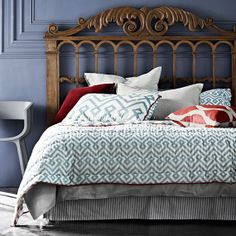 Woodblock Coverlet  King Size 260cm x 240cm by AURAhome on Etsy, $289.00