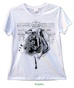 T-Shirt KeeVeet TIGER Donna Realtà Aumentata con App. Cotone Misura L. - T-Shirt KeeVeet Realta' Aumentata con App - Regali Curiosi