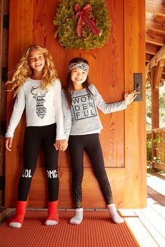 Cozy leggings & cheerful tees make Christmas morning 'Oh, what fun.'