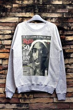 TuPac 2Pac Sweatshirt Crewneck Sweater Unisex by OhhShhhShirt, $32.99