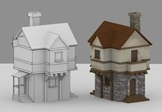 In this tutorial I will show you how to create a low poly medieval house in Blender. The tutorial is split into two parts—the first for modeling the house and the second for unwrapping and texturing. | Difficulty: Beginner; Length: Medium; Tags: Blender, Low-Poly