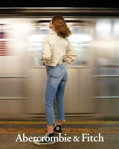 34303b3757c Abercrombie & Fitch | High Rise Mom Jeans via @jelena.marija