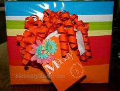 This adorable gift tag...?  It started out as a paint chip.  Dang that's clever!