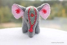 St Valentine Felt Elephant Winter gifts February finds Indian elephant embroidery miniature felt decoration gray for the home for her by RannyGifts on Etsy https://www.etsy.com/listing/249645621/st-valentine-felt-elephant-winter-gifts