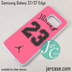 Air Jordan YP Pink Phone Case for Samsung Galaxy S7 & S7 Edge
