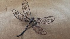 Handmade Copper Dragonfly 026:copper by SouthPawMetalWorks on Etsy