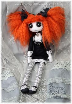 Gothic cloth art doll Penny Patchouli