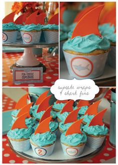 DIY Printable Shark Theme Birthday Party Package. $20.00, via Etsy.